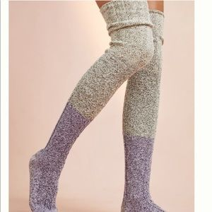 Cable Knit Thigh High Socks